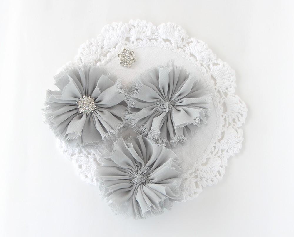 цветы из ткани, тканевые цветочки для ободков и шапочек, шифоновые цветы для аксессуаров,