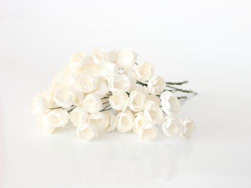 Бумажные цветочки лютики для скрапбукинга оптом