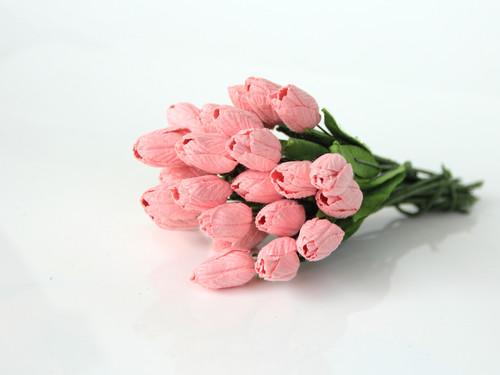 бумажные тюльпаны для скрапбукинга, цветы для спраббукинга