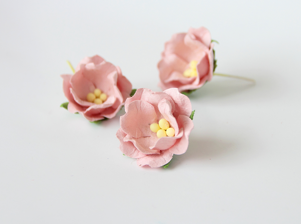 бумажные цветы яблони для скрапбукинга оптом из Тайланда